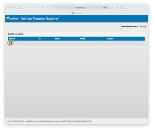 Remote Manager Gateway Dashboard